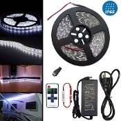 Waterproof High Density White LED Strip Light 11 Key Remote