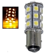 1157 Dual Function 27 SMD LED BAY15D Retrofit / Amber