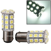 1056, 1076, 1142 (BA15D)- 27 LED Cool White
