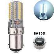 90 - 145 volt  (BA15D)- 64 LED Cool White